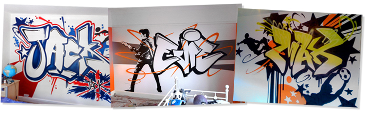 Ejemplos de graffiti de nombre con fondo abtracto
