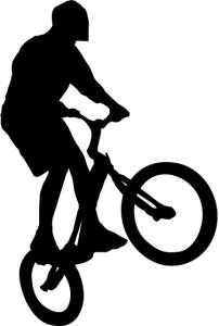 Silueta de ciclista para graffiti