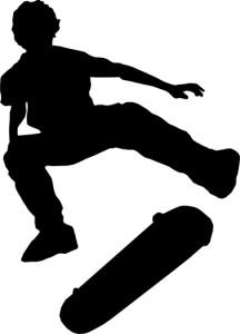 Silueta de skater para graffitis
