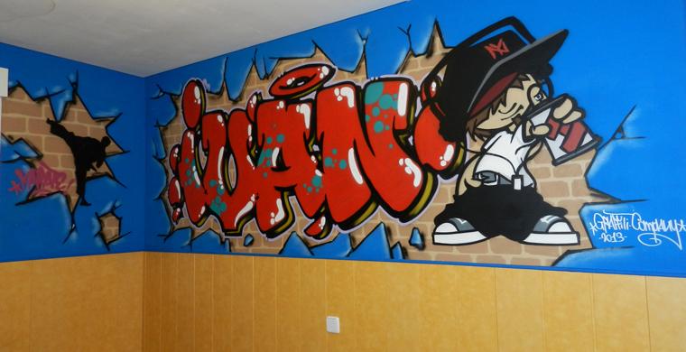 Graffiti de nombre: Iván