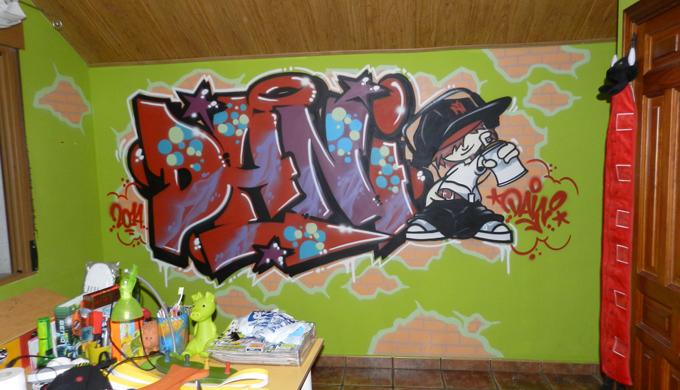Mi Nombre en Graffiti | Habitación con graffiti | Decoración ...