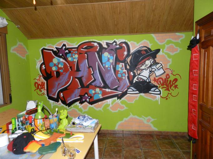 Mi nombre en graffiti habitaci n con graffiti for Graffitis para habitaciones
