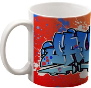 Taza de regalo al encargar un graffiti profesional