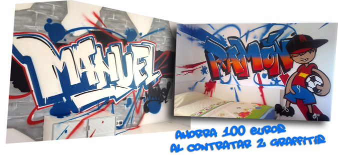 Ahorra 100€ al contratar dos graffitis