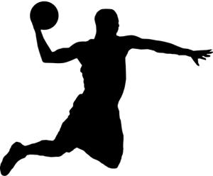 Silueta de baloncesto para graffitis