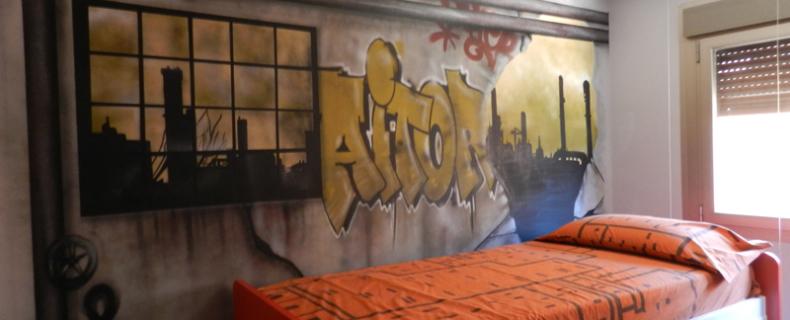 Habitación transformada en una fábrica abandonada