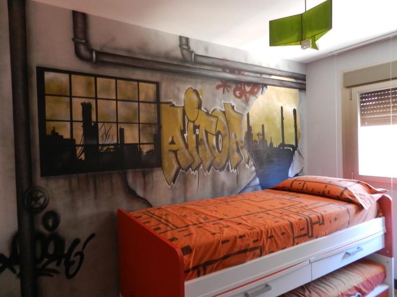 Mi nombre en graffiti habitaci n con graffiti - Graffitis para habitaciones ...