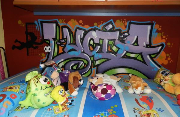 Graffiti de nombre: Lucía