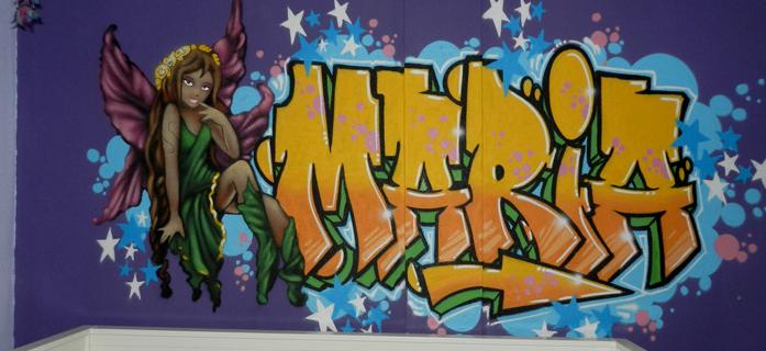 Graffiti con el nombre de María