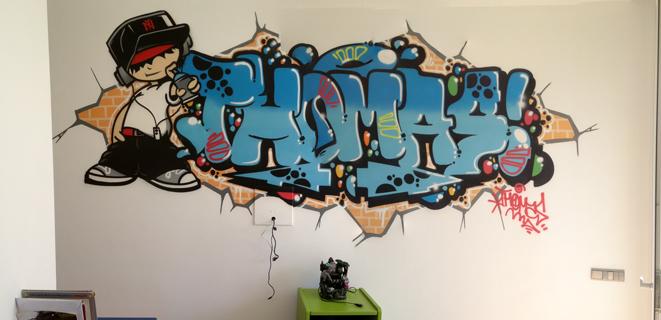 ¡¡Un Graffiti en mi habitación!!
